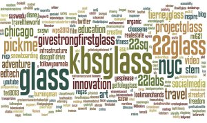 Google glass ifihadglass winners bonus world cloud of most common hashtags in applications thanks amzoellner for the idea fandeluxe Image collections