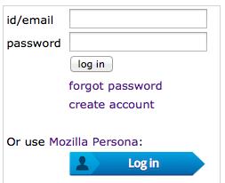 Mozilla Persona A/B Interface Tests