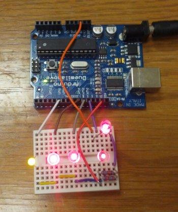 Hook up led to arduino